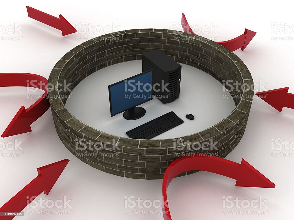 Firewall Protection royalty-free stock photo