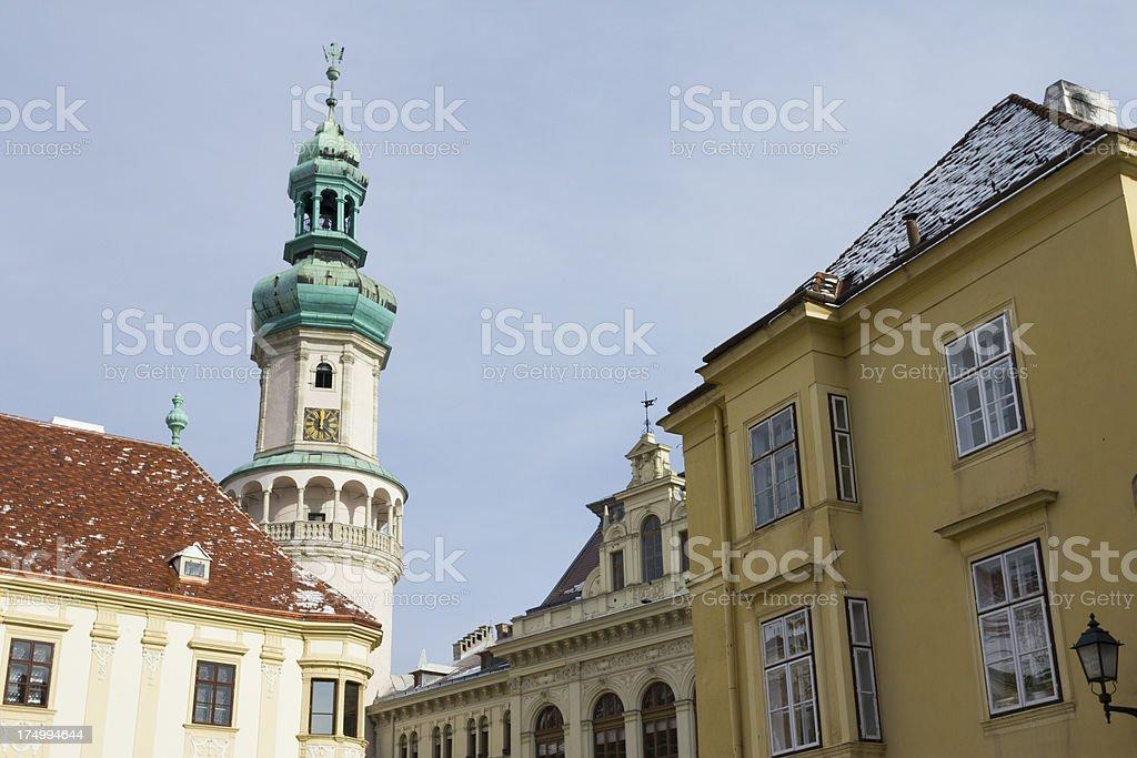 Firewatch Tower, Sopron royalty-free stock photo