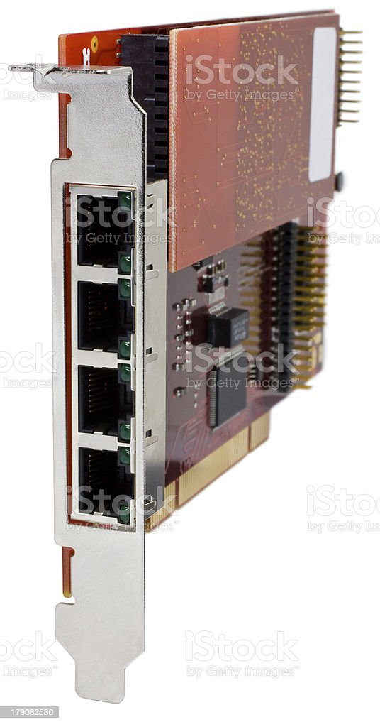 Firewire 800 Card for server computers royalty-free stock photo