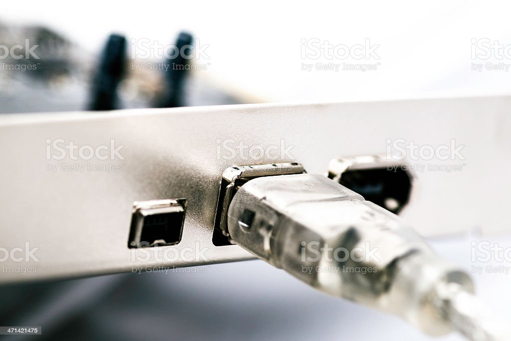 FireWire cable stock photo