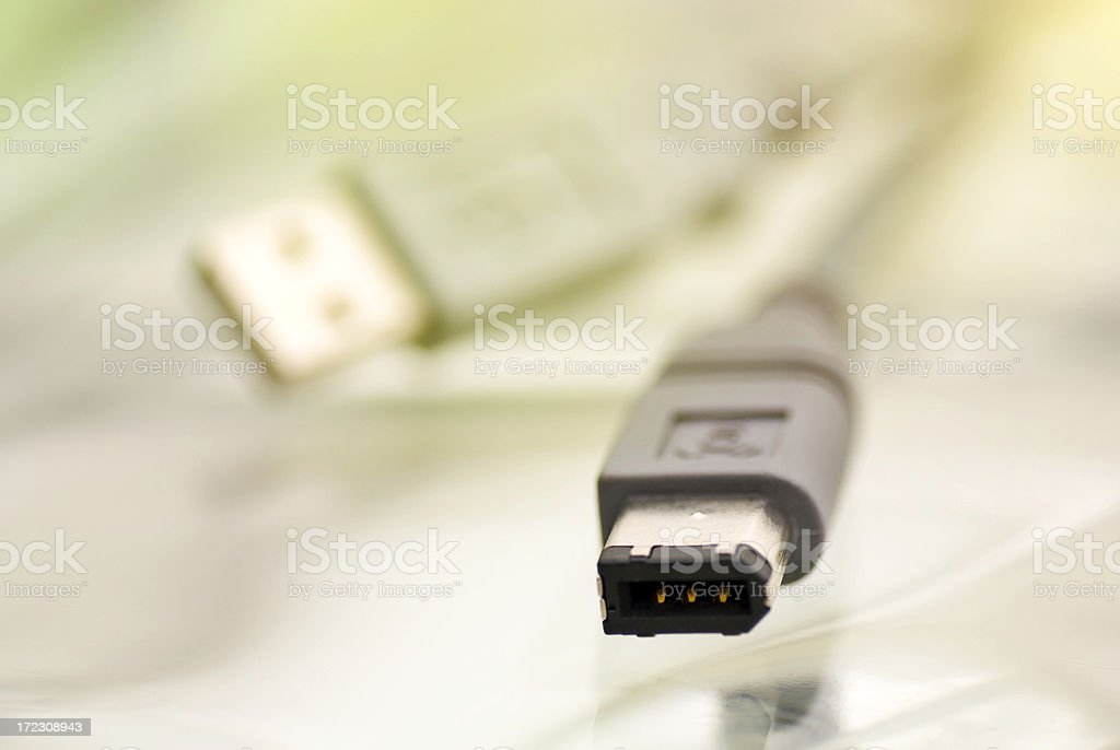 Firewire Cables royalty-free stock photo