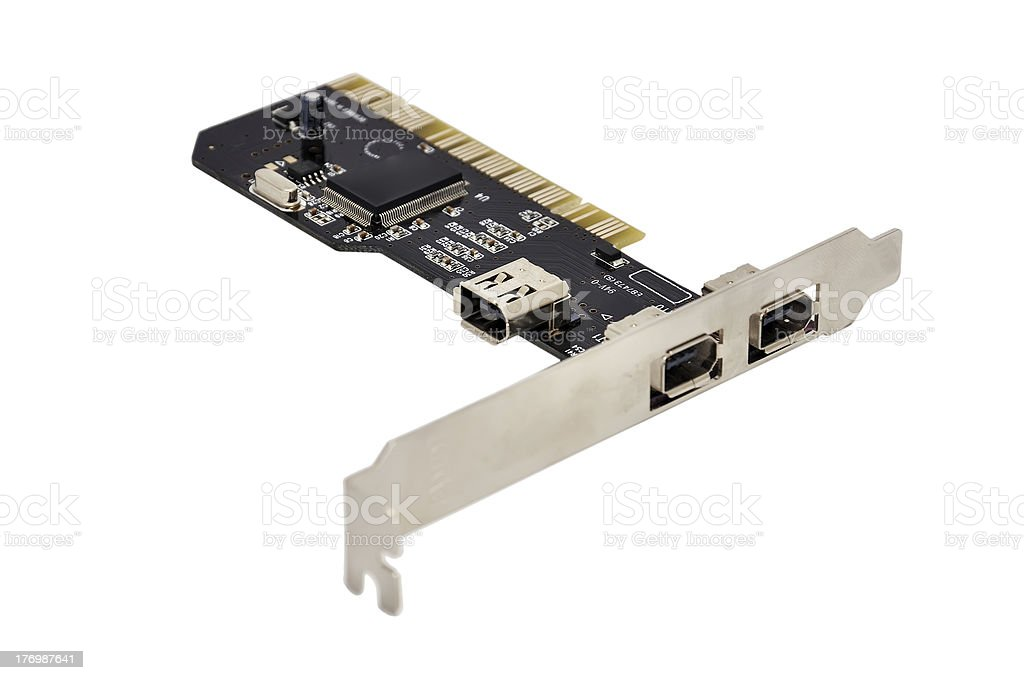 FireWire PCI Card stock photo