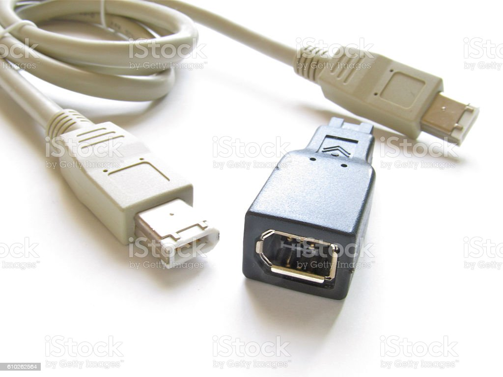 FireWire(IEEE 1394) stock photo
