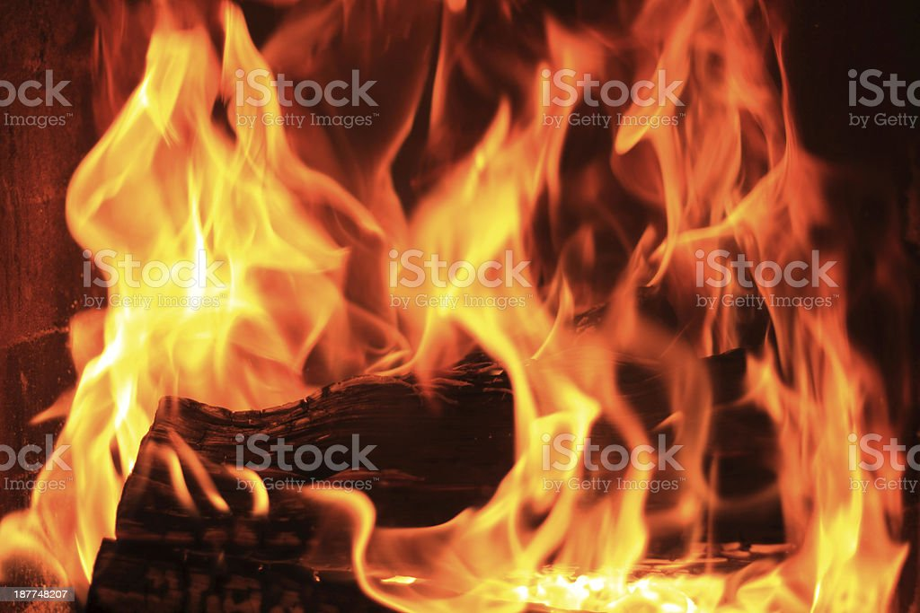 firewod flashover stock photo