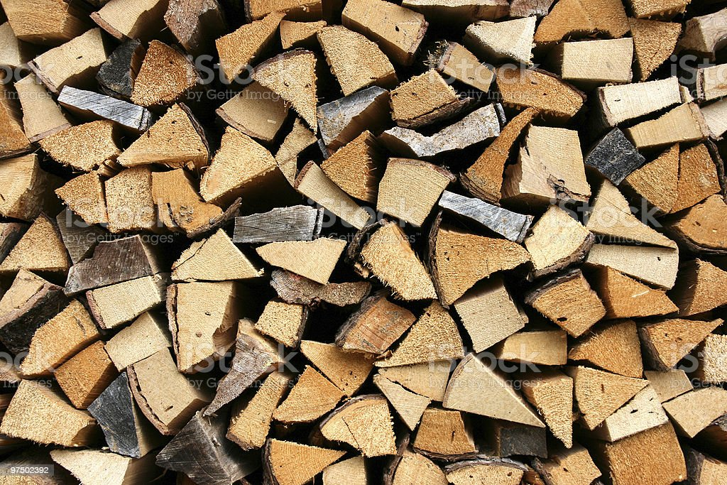 Firewood abstract stock photo