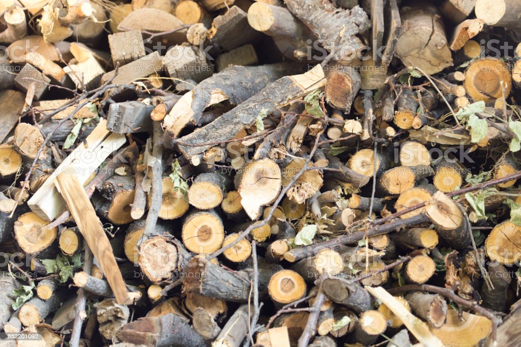 firewood as background stock photo