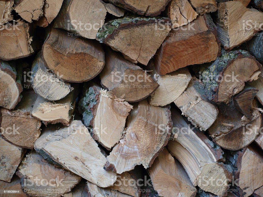firewood background stock photo