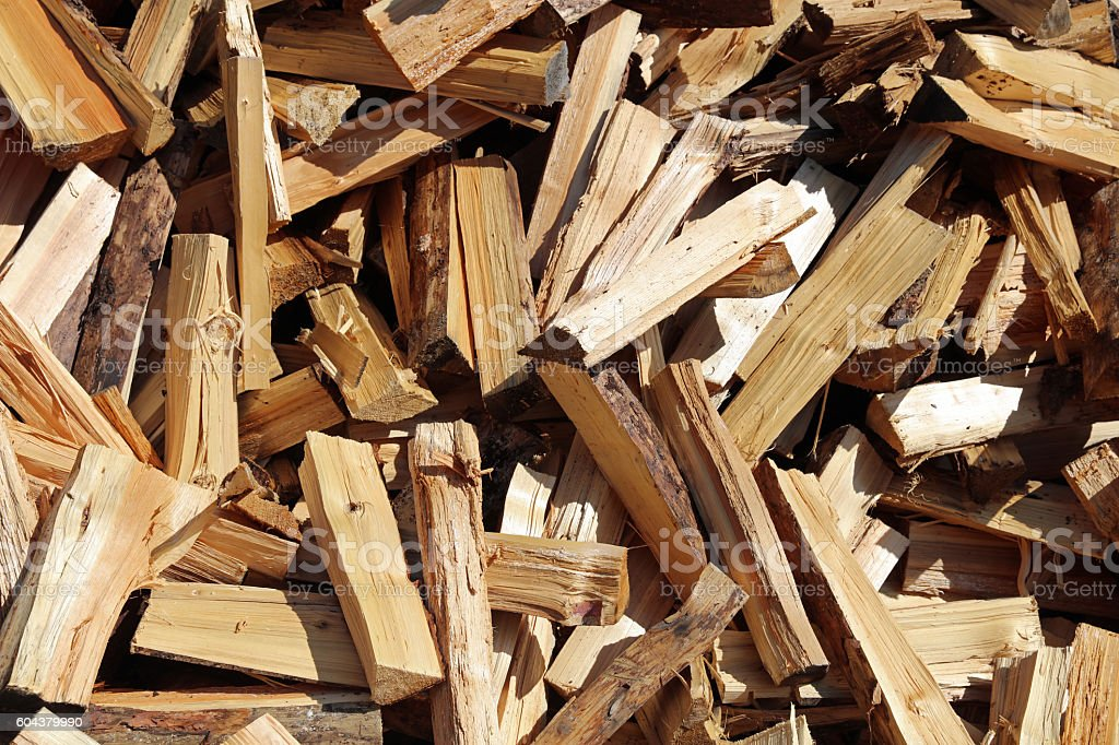 Firewood in Lech Valley. Tirol. Austria stock photo