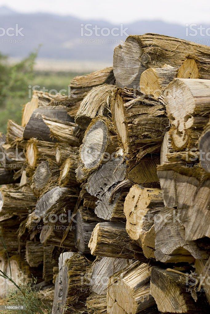 Firewood Pile stock photo