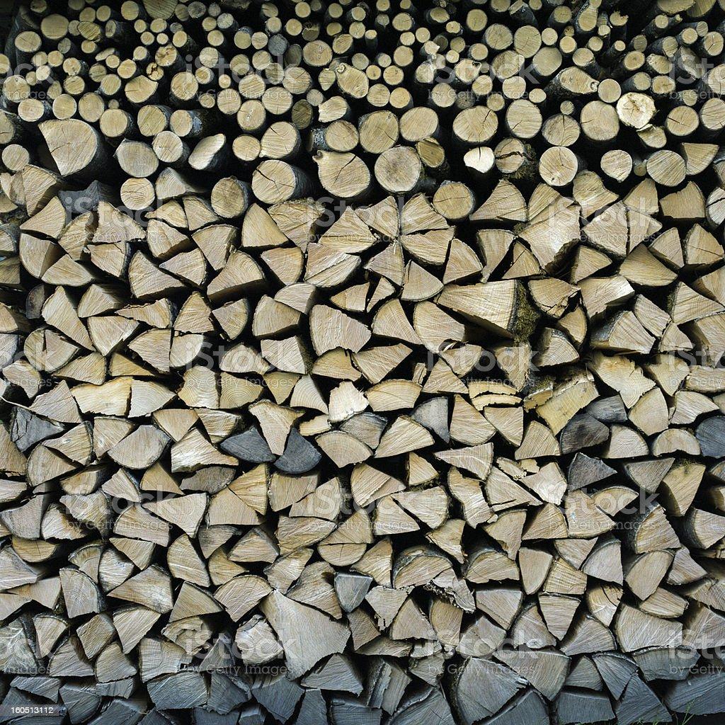 firewood wall royalty-free stock photo