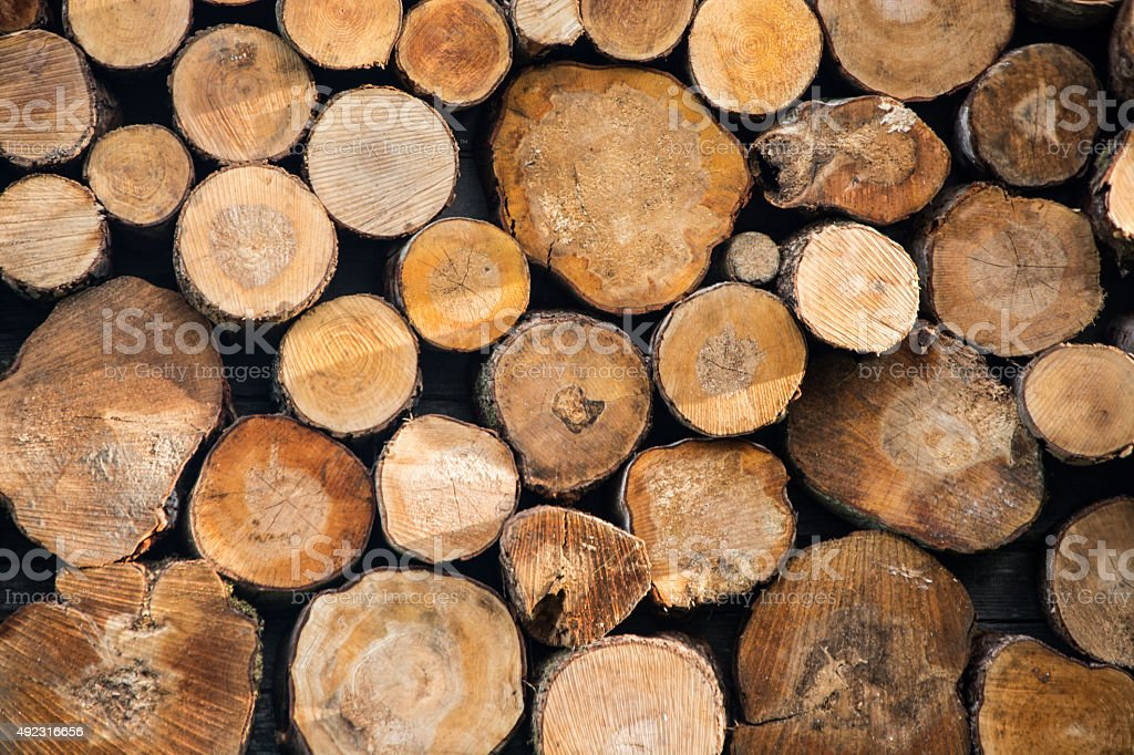 Firewood. Wood stock photo