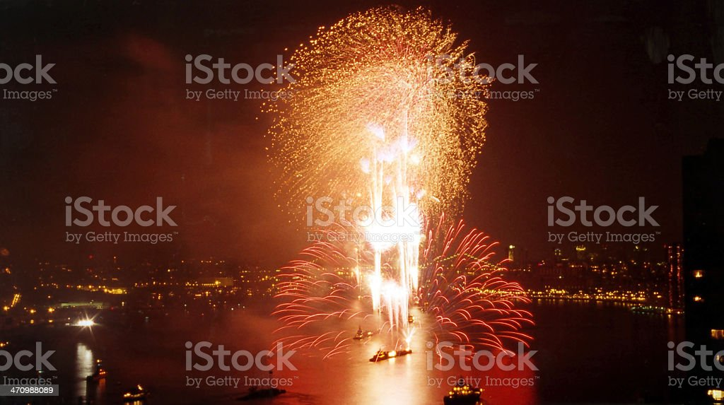Firework at milleniums independence day royalty-free stock photo