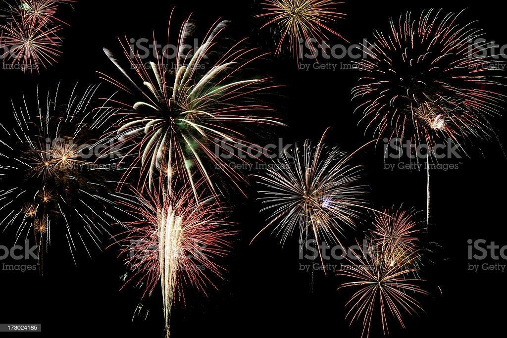 Firework background royalty-free stock photo