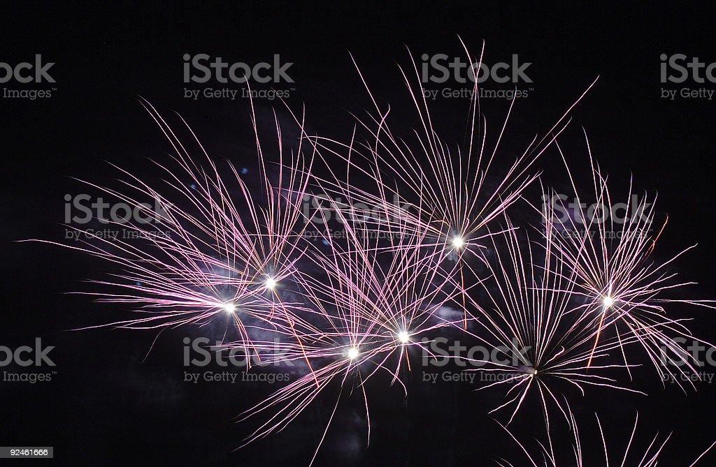 Firework bursts stock photo