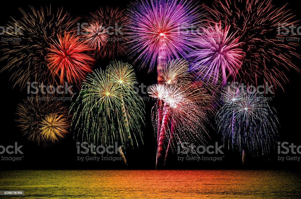 Firework celebration. stock photo