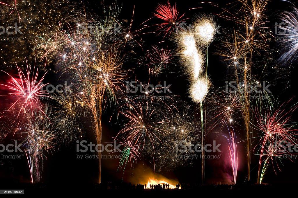 Firework Display - 5th November - England stock photo