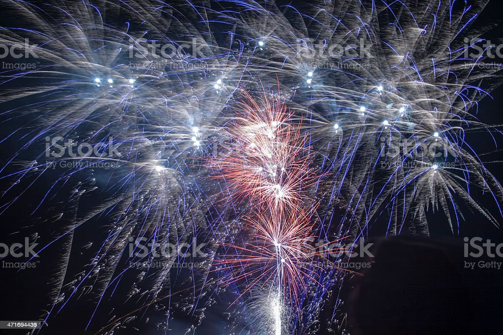Firework display royalty-free stock photo
