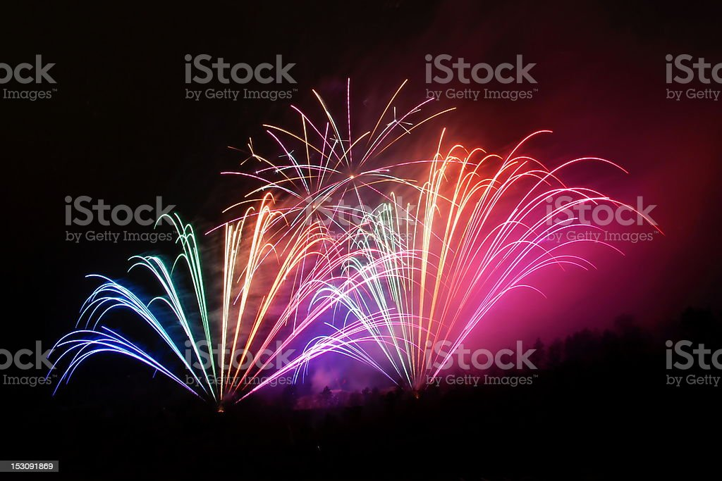 Firework during the celebration of New Year royalty-free stock photo