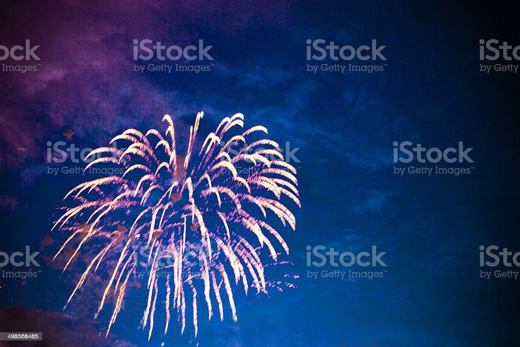 Firework explosion. stock photo
