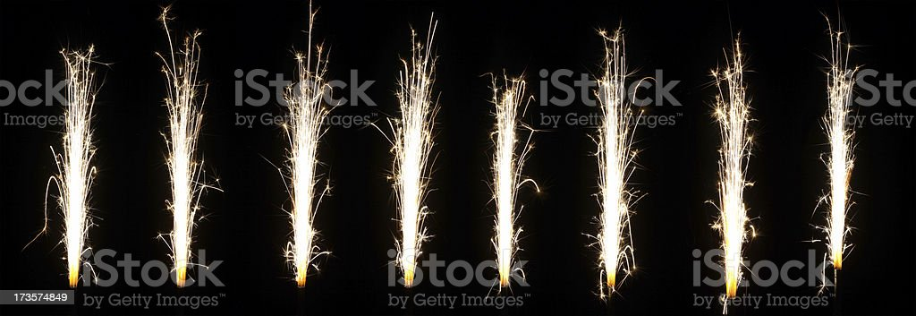 Firework fountains royalty-free stock photo