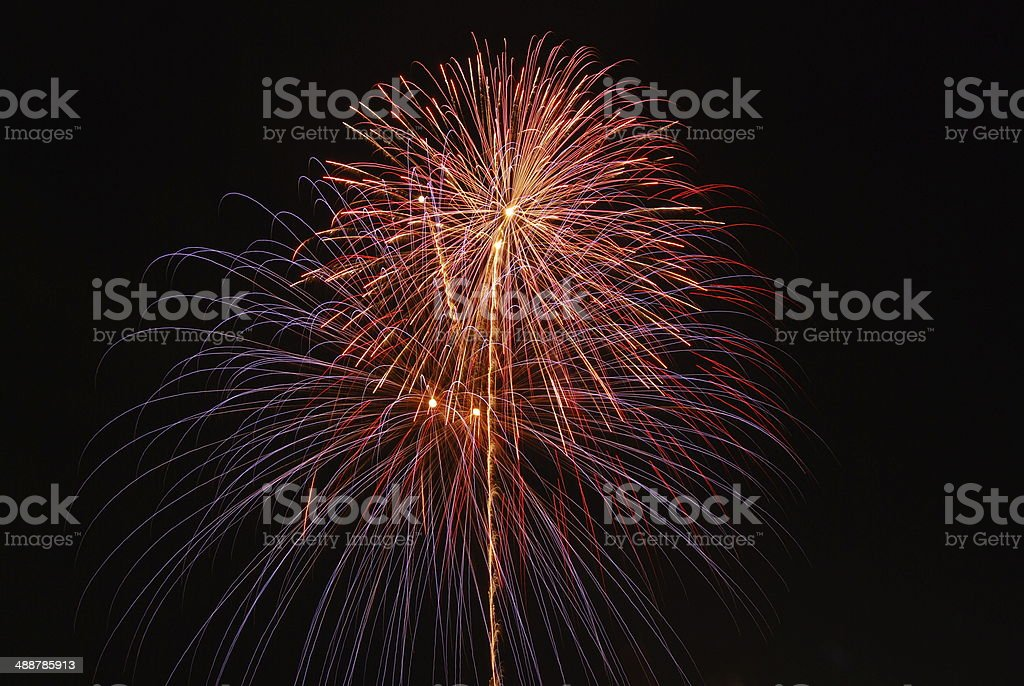 firework on Father's Day stock photo