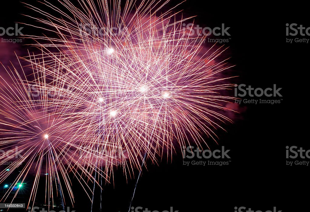 Firework pattern royalty-free stock photo