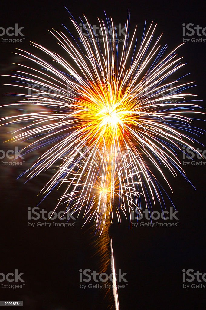 Firework #1 royalty-free stock photo