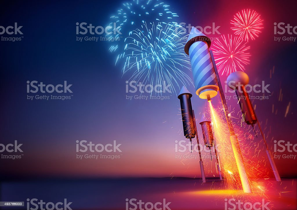 Firework Rockets stock photo