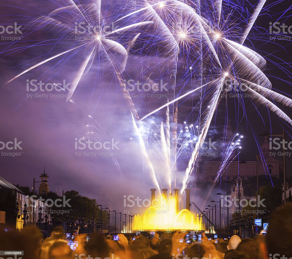 Firework show stock photo