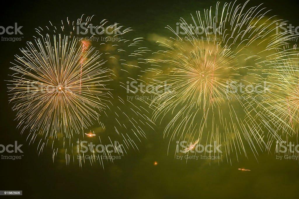 firework show stock photo