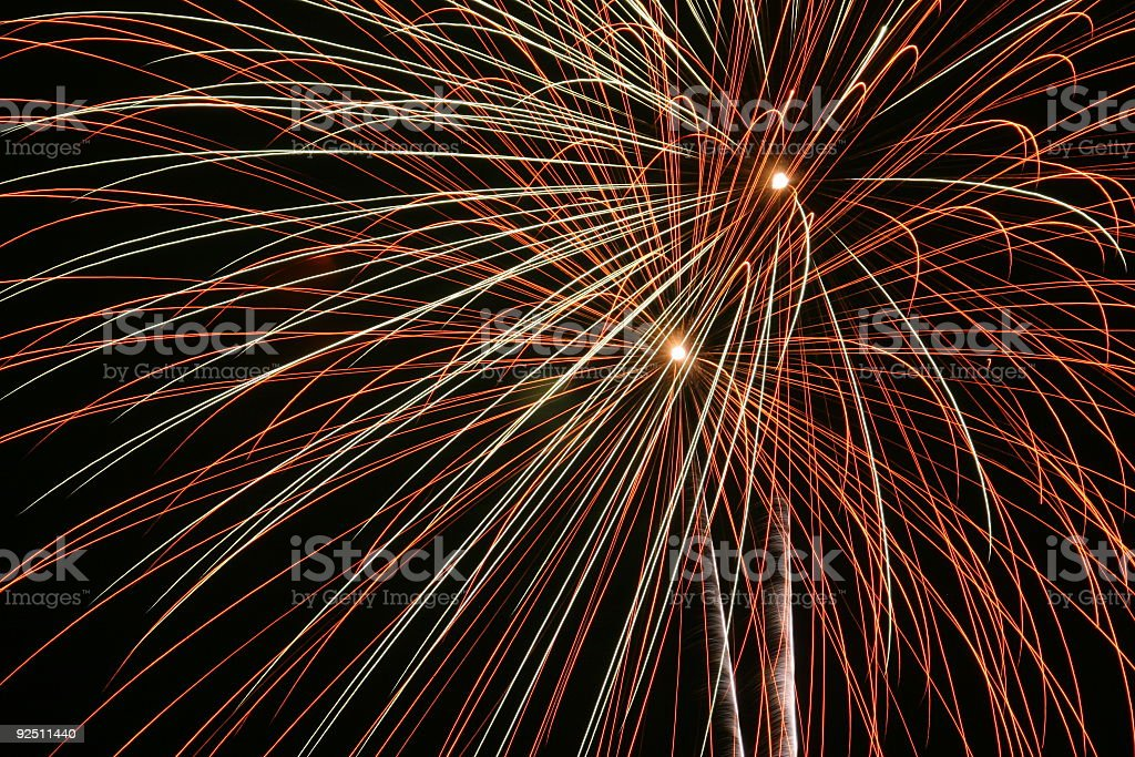 Fireworks 10 royalty-free stock photo