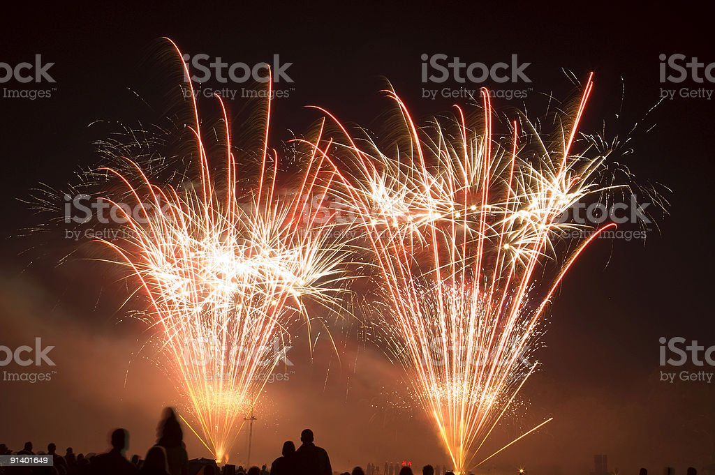 Fireworks 2007 Number 7 royalty-free stock photo