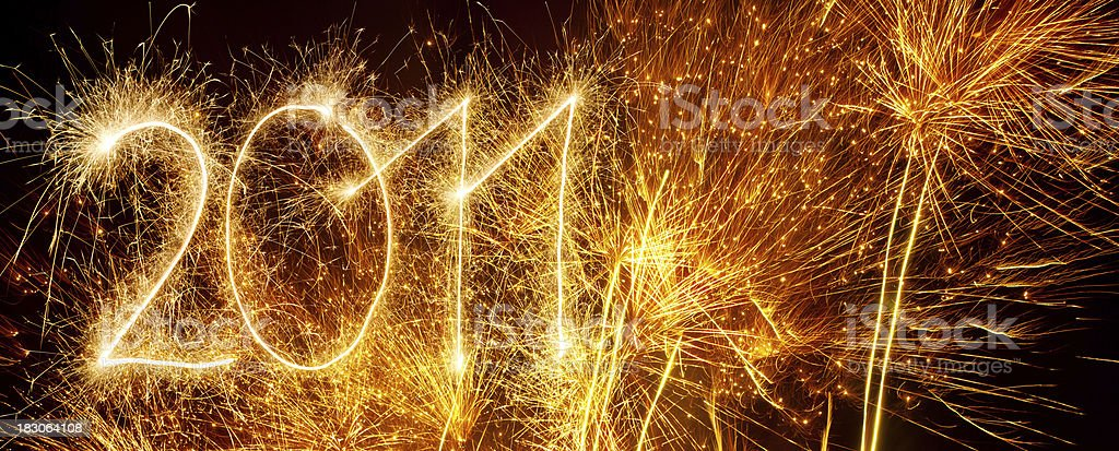 Fireworks 2011 stock photo