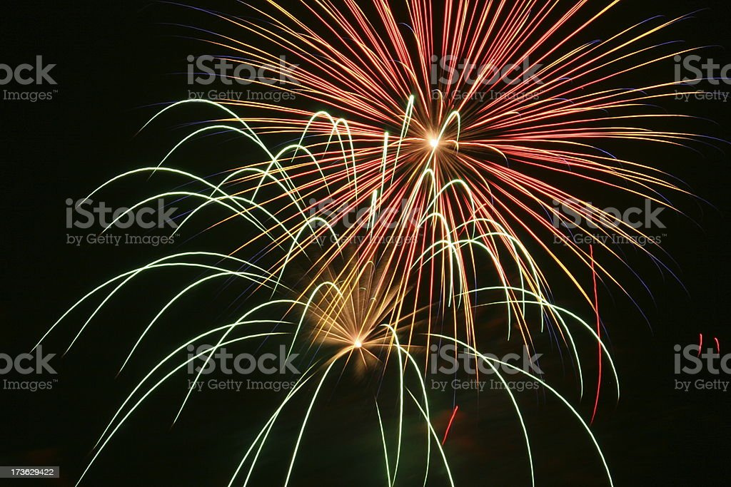 Fireworks 24 royalty-free stock photo