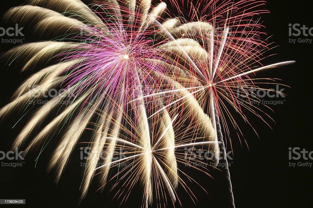 Fireworks 3 stock photo