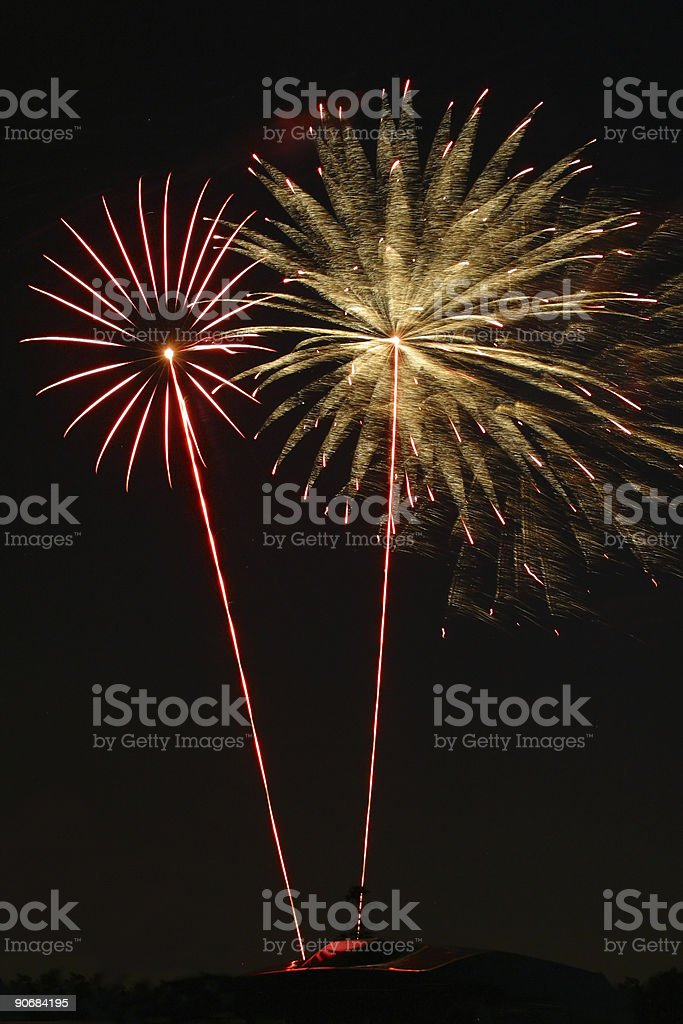 Fireworks 3 royalty-free stock photo