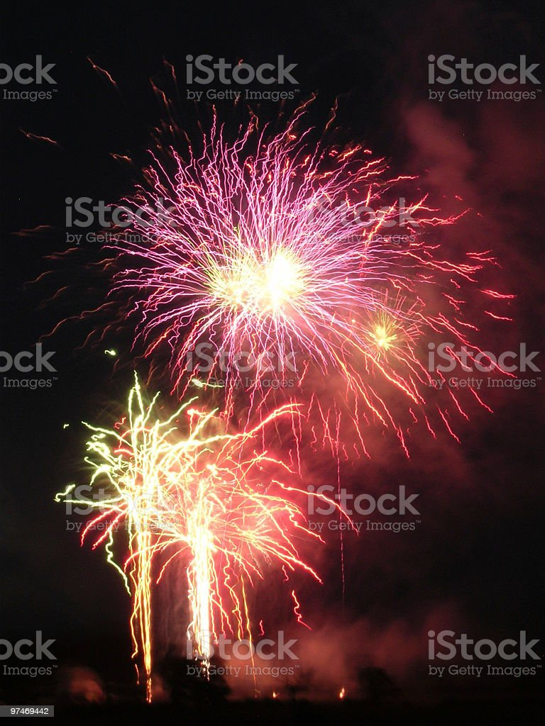 Fireworks 3. royalty-free stock photo
