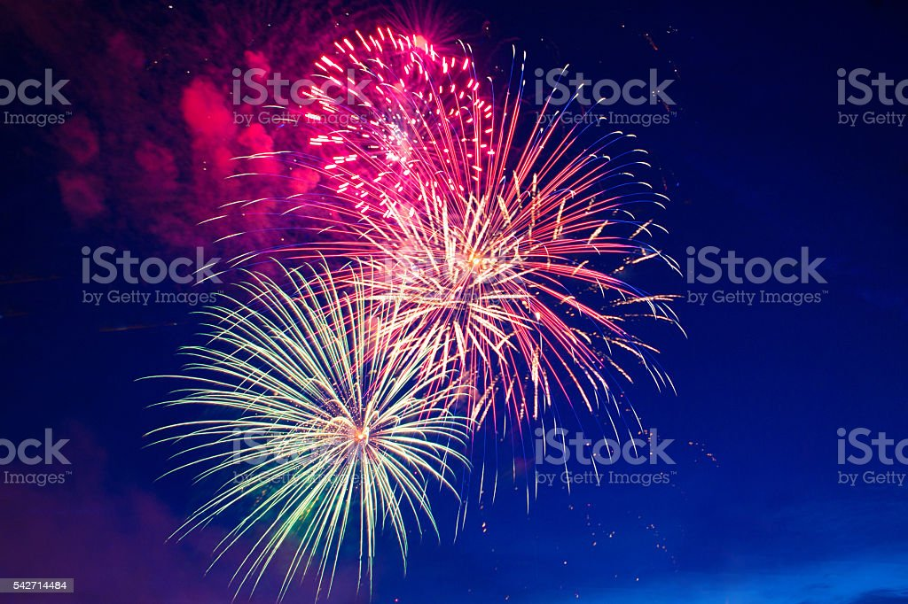 Fireworks 4th July stock photo