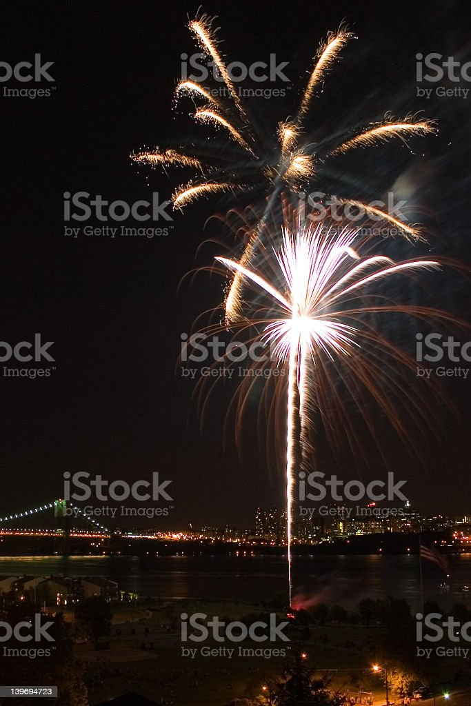 Fireworks 4th Of July stock photo