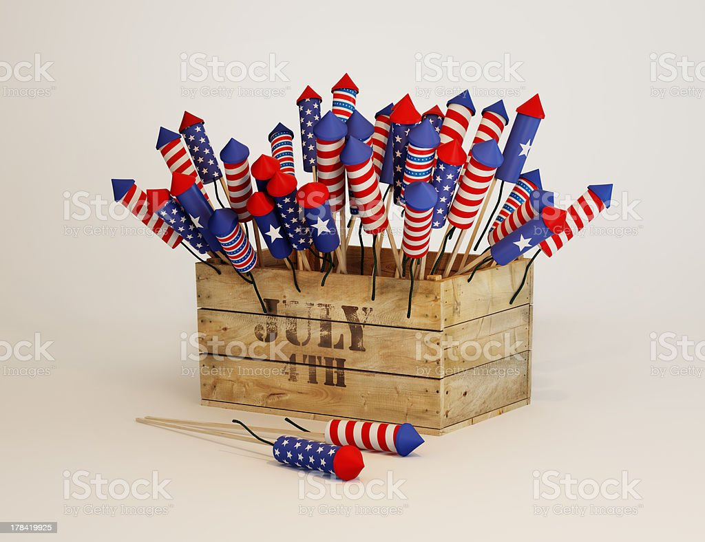 Fireworks. 4th of July royalty-free stock photo