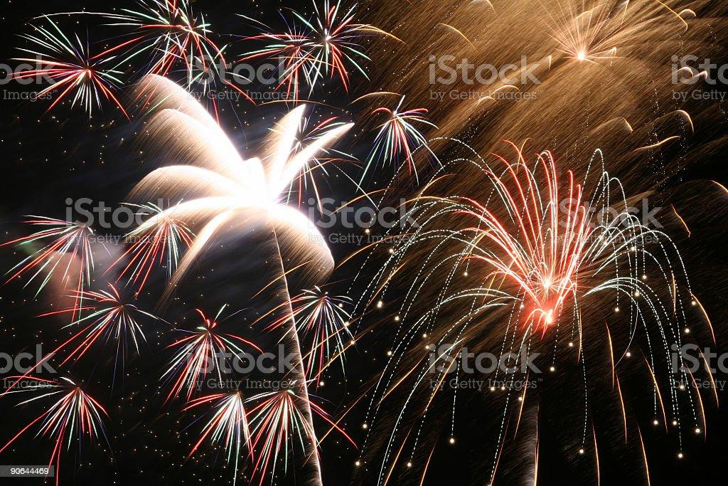 Fireworks 9 royalty-free stock photo