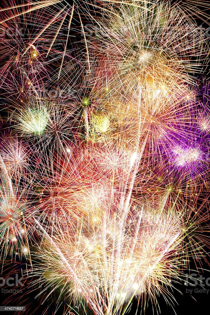 Fireworks background royalty-free stock photo