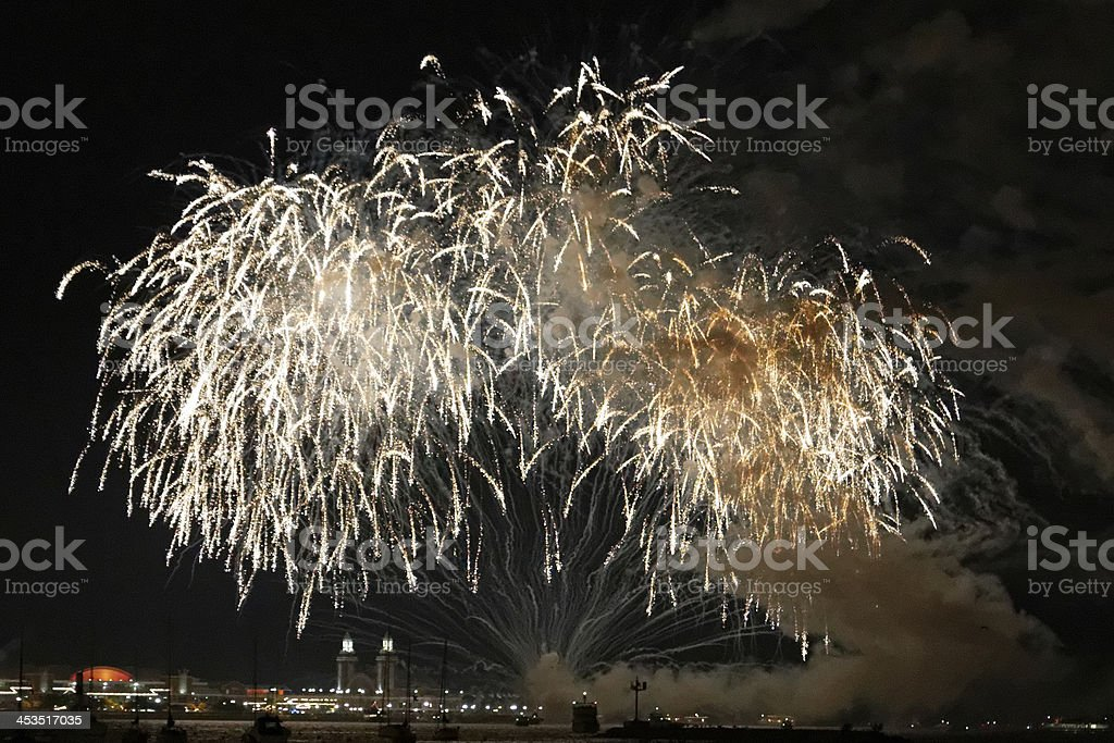 Fireworks before 4th of July stock photo