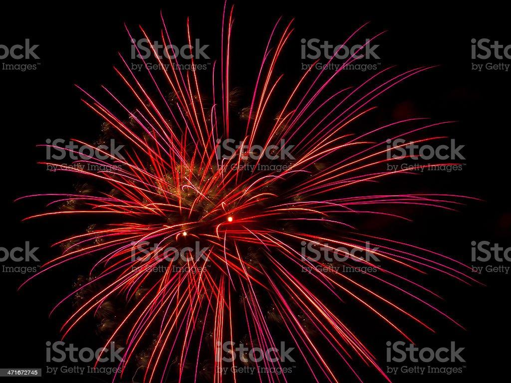 Fuochi d'artificio Brusts foto stock royalty-free