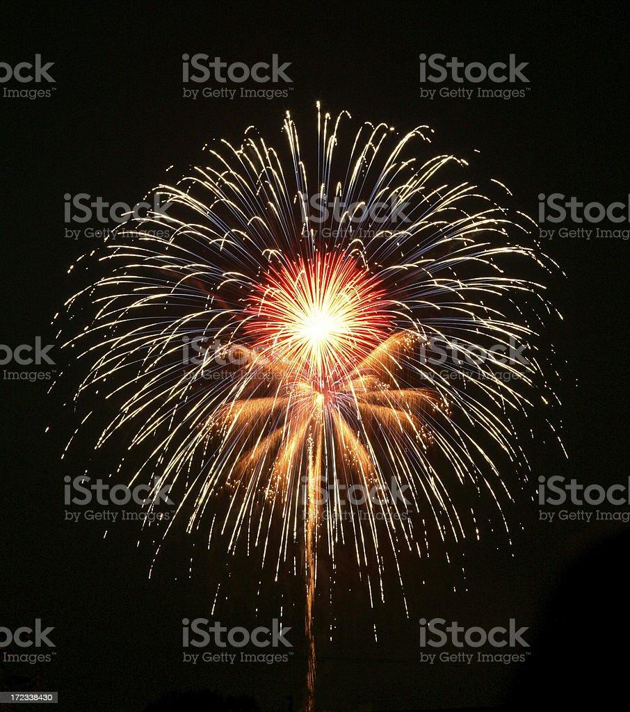 Fireworks Burst royalty-free stock photo