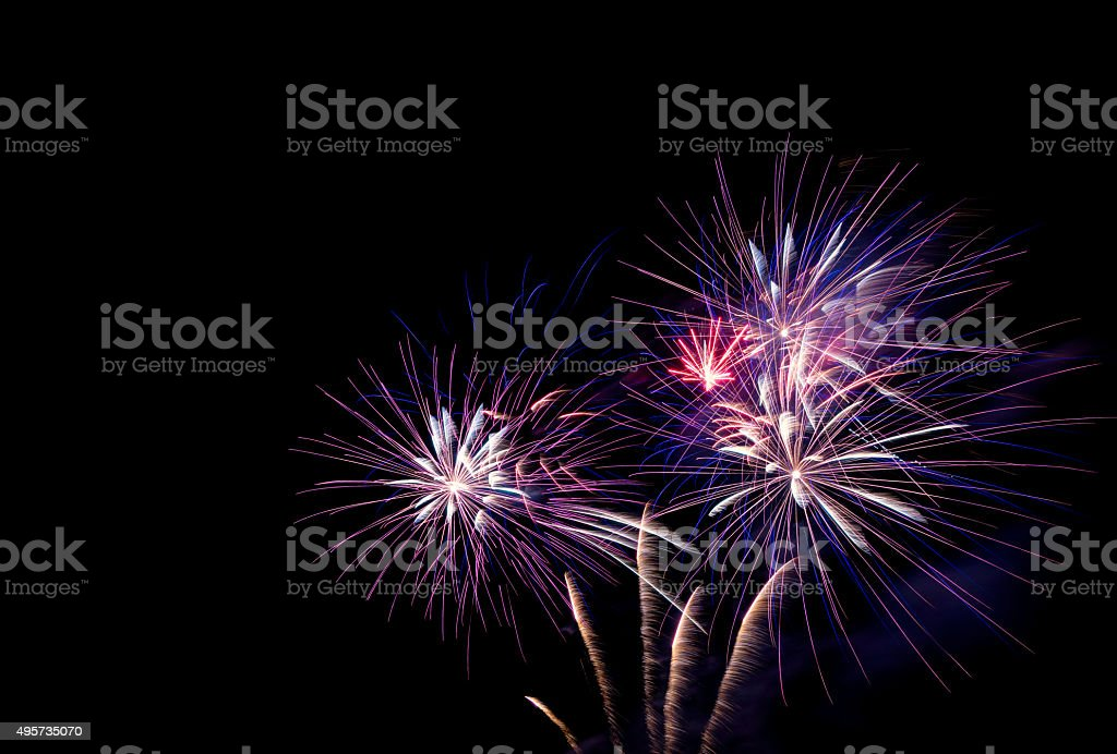 Fireworks Bursting stock photo