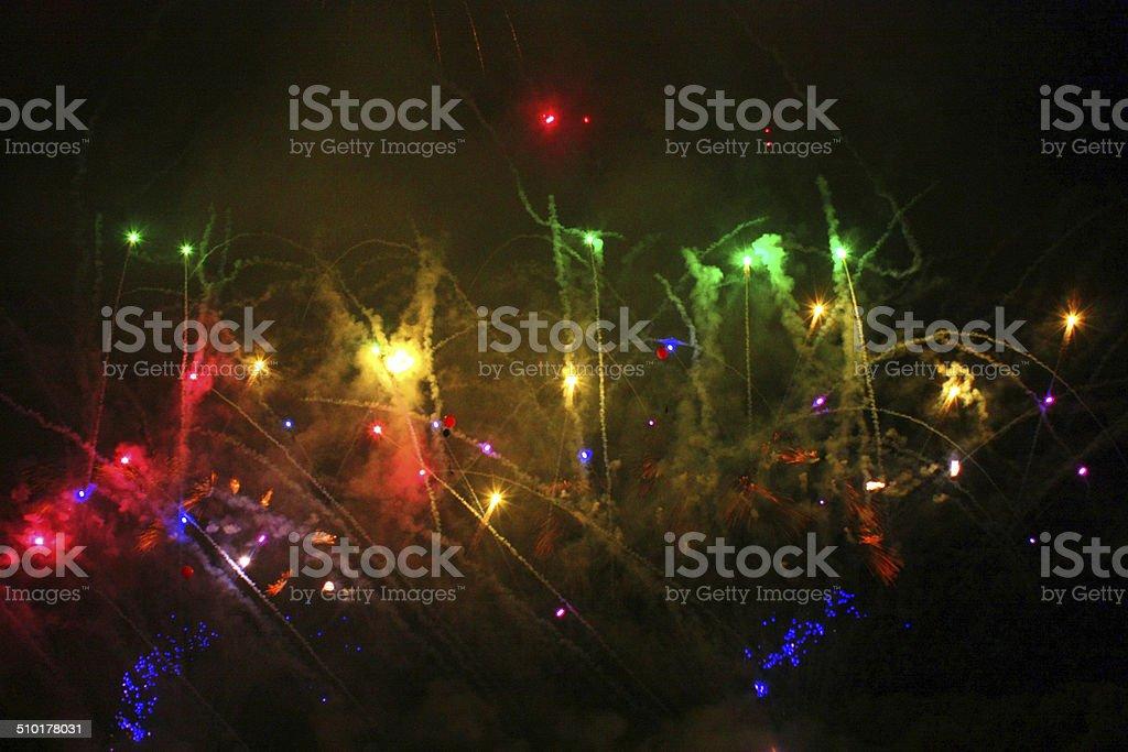 Fogos de artifício em cluster foto de stock royalty-free