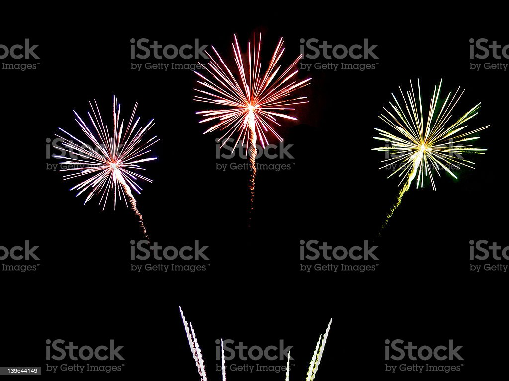 Fireworks Compilation 06 royalty-free stock photo