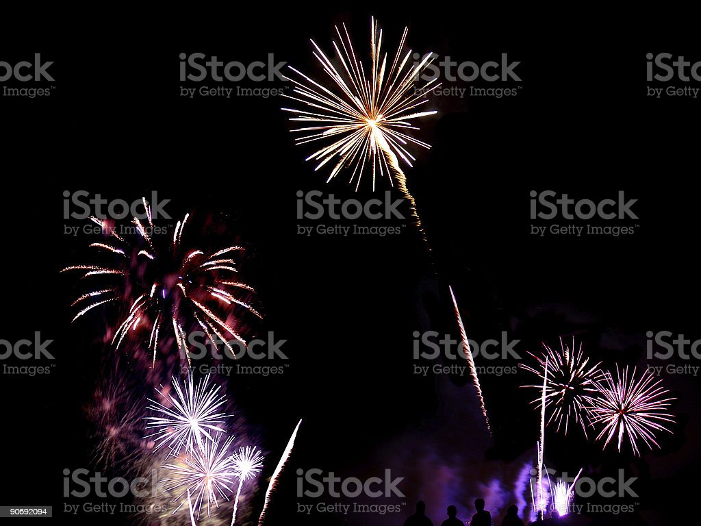 Fireworks Compilation 07 royalty-free stock photo