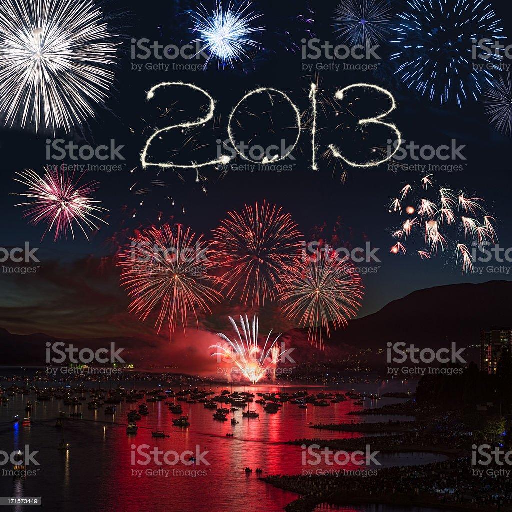 Fireworks Display 2013 royalty-free stock photo